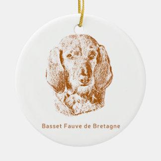 Basset Fauve de Bretagne Ceramic Ornament