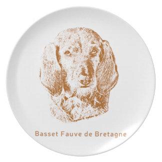 Basset Fauve de Bretagne Dinner Plate
