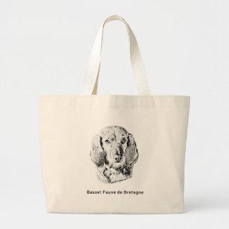 Basset Fauve de Bretagne Drawing Large Tote Bag