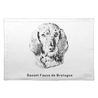 Basset Fauve de Bretagne Drawing Placemat