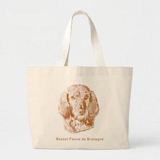 Basset Fauve de Bretagne Large Tote Bag