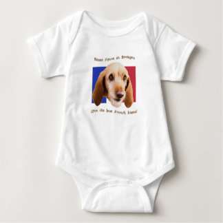 Basset Fauve deBretagne Give Best French Kisses Baby Bodysuit
