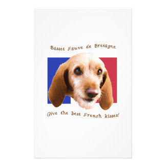 Basset Fauve deBretagne Give Best French Kisses Stationery