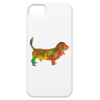 Basset Hound 01 in watercolor 2 Case For The iPhone 5
