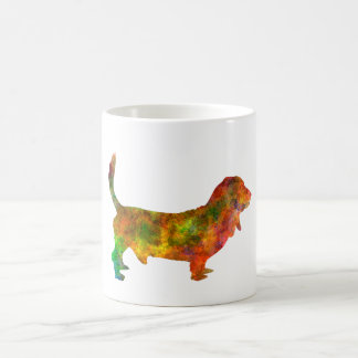 Basset Hound 01 in watercolor 2 Coffee Mug