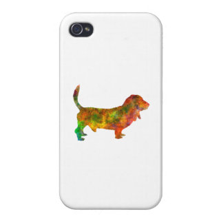 Basset Hound 01 in watercolor 2 iPhone 4/4S Cases