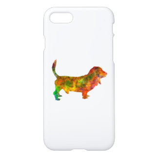 Basset Hound 01 in watercolor 2 iPhone 7 Case