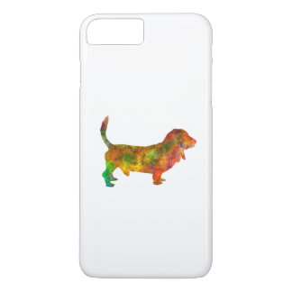 Basset Hound 01 in watercolor 2 iPhone 7 Plus Case