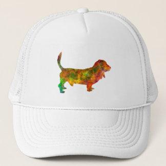 Basset Hound 01 in watercolor 2 Trucker Hat