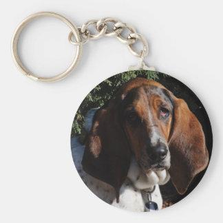 Basset Hound 01 Key Ring