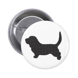 Basset Hound 6 Cm Round Badge