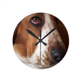 basset-hound-7 clock