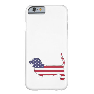 """Basset hound """"American flag"""" Barely There iPhone 6 Case"""