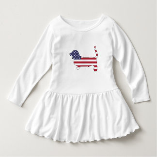 "Basset hound ""American flag"" Dress"