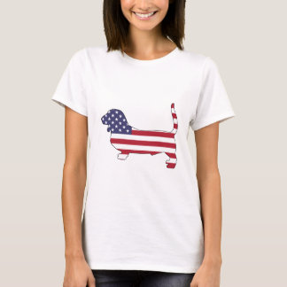 "Basset hound ""American flag"" T-Shirt"
