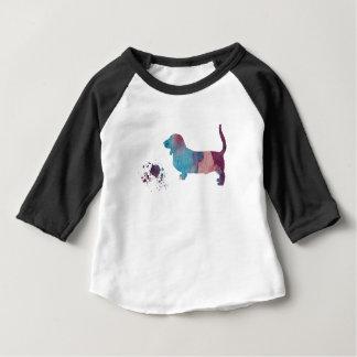 Basset hound art baby T-Shirt