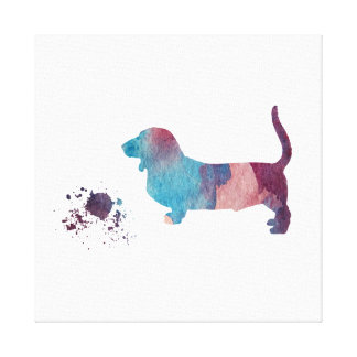 Basset hound art canvas print