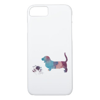 Basset hound art iPhone 8/7 case