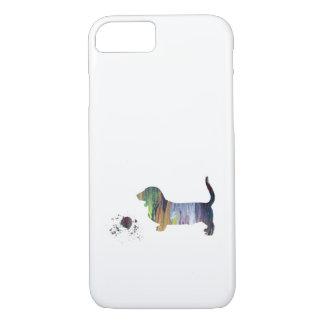 Basset hound art iPhone 8/7 case