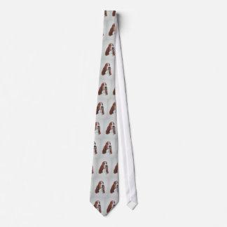 Basset Hound Art on Tie. Tie