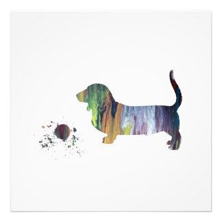 Basset hound art photo print
