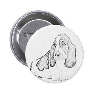Basset hound pin