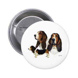 Basset Hound Buttons