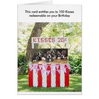 Basset hound Birthday card