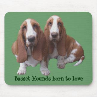 Basset Hound Buddies Mousepad