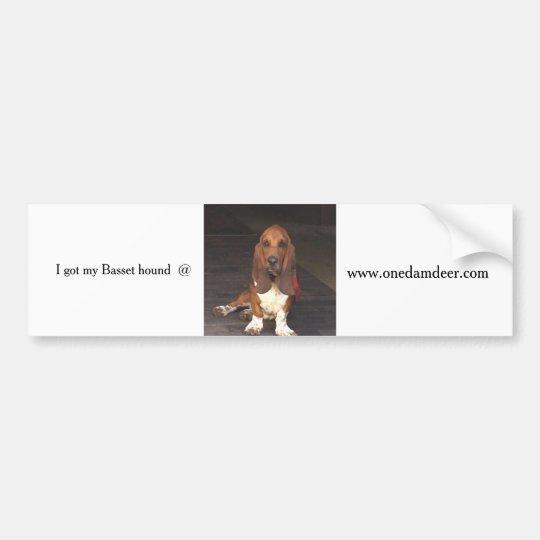 Basset hound bumper sticker