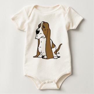 Basset hound cartoon baby bodysuit