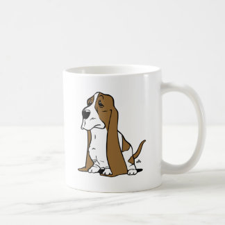 Basset hound cartoon coffee mug