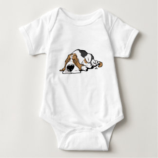 Basset Hound cartoon dog Baby Bodysuit
