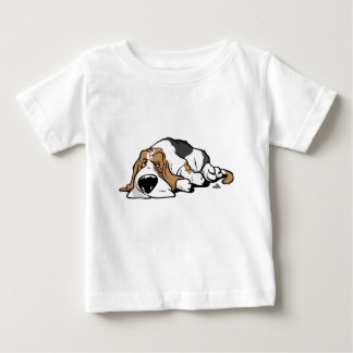 Basset Hound cartoon dog Baby T-Shirt