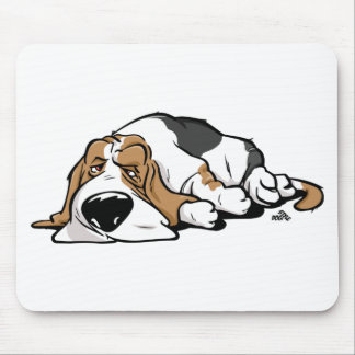 Basset Hound cartoon dog Mouse Pad