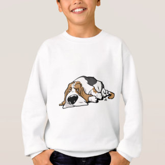 Basset Hound cartoon dog Sweatshirt