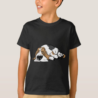 Basset Hound cartoon dog T-Shirt