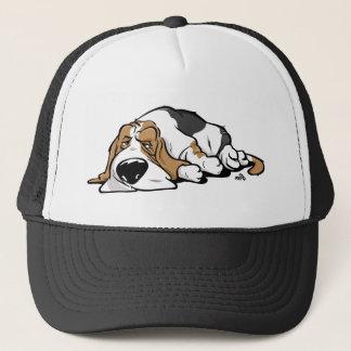 Basset Hound cartoon dog Trucker Hat