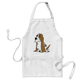 Basset hound cartoon standard apron