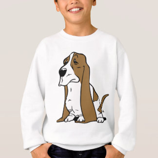 Basset hound cartoon sweatshirt