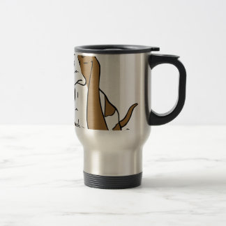 Basset hound cartoon travel mug
