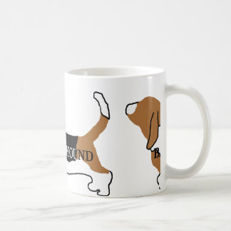 Basset Hound color name silhouette Coffee Mug