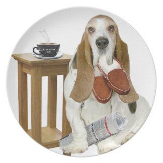 Basset Hound Daddy's Helper Plate