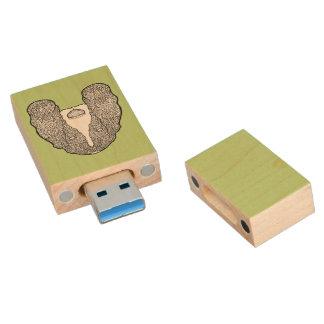 Basset Hound - Detailed Dogs Wood USB 3.0 Flash Drive