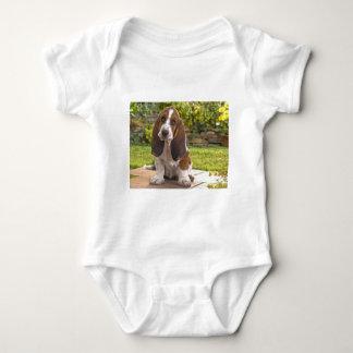 Basset Hound Dog Baby Bodysuit