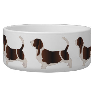 Basset Hound Dog Breed Silhouette Illustration