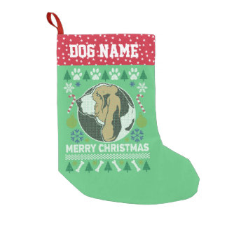 Basset Hound Dog Breed Ugly Christmas Sweater Small Christmas Stocking