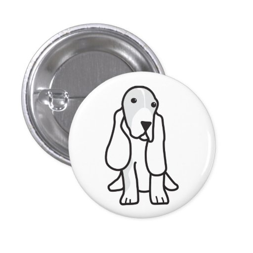 Basset Hound Dog Cartoon Pin