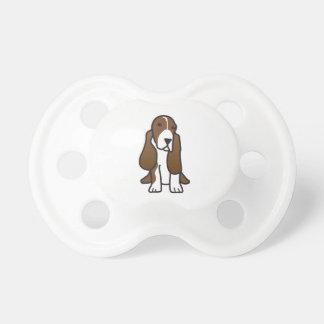 Basset Hound Dog Cartoon Pacifier