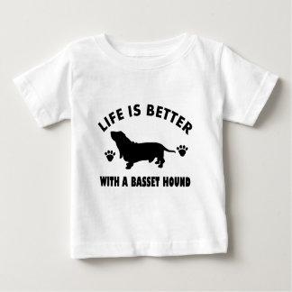 basset hound dog design baby T-Shirt